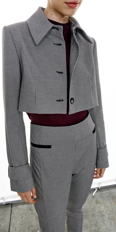 Made in Australia  | Mini Houndstooth Cropped Jacket