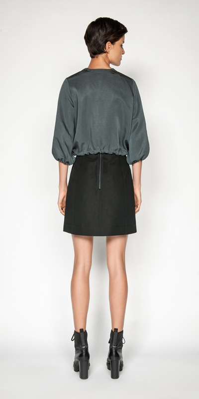 Jackets | Linen Cropped Zip Front Jacket