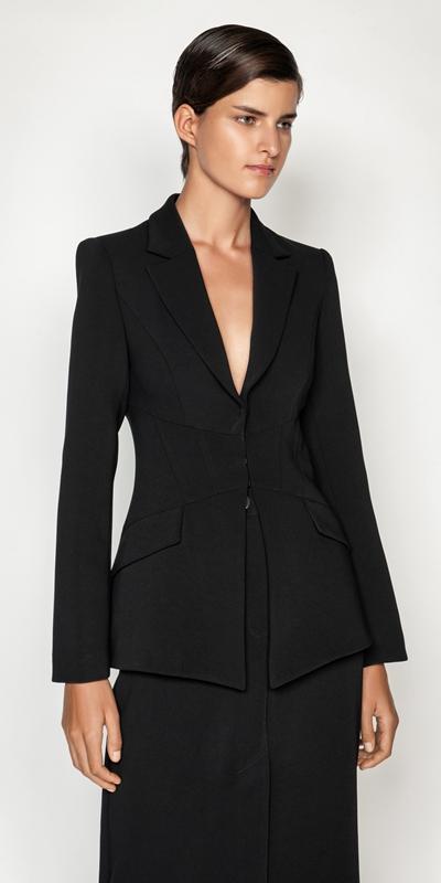 Jackets  | Crepe Twill Corset Blazer