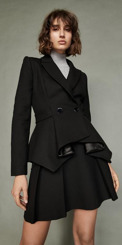 Jackets  | Cotton Twill Peplum Jacket