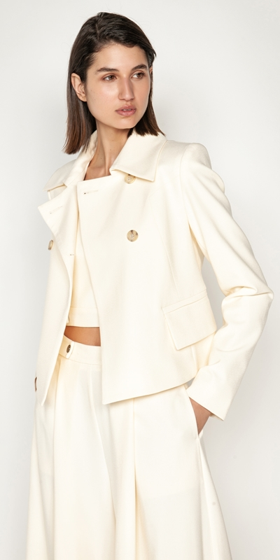 Sale  | Shell Double Breasted Jacket
