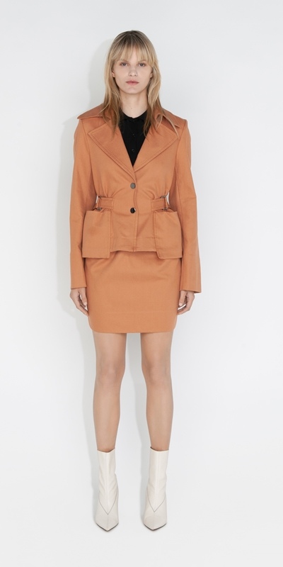 Sale | Cotton Cropped Trench Jacket