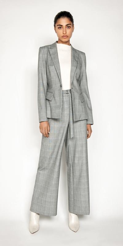 Sale | Check Cross Over Back Blazer