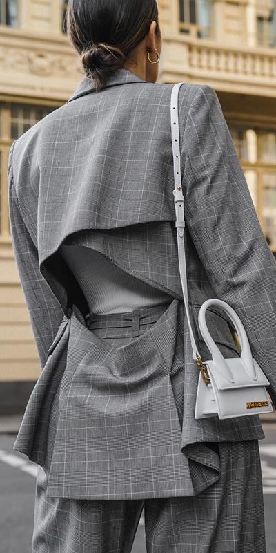 Jackets and Coats | Check Cross Over Back Blazer