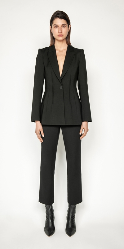 Jackets and Coats | Double Twill Back Cut Out Blazer