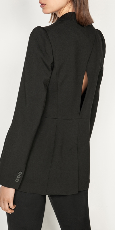 Sale  | Double Twill Back Cut Out Blazer