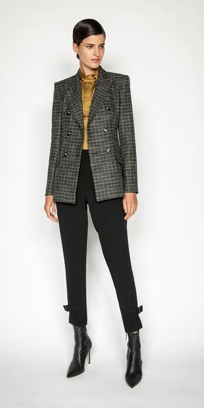 Jackets | Monochrome Tweed Double Breasted Jacket