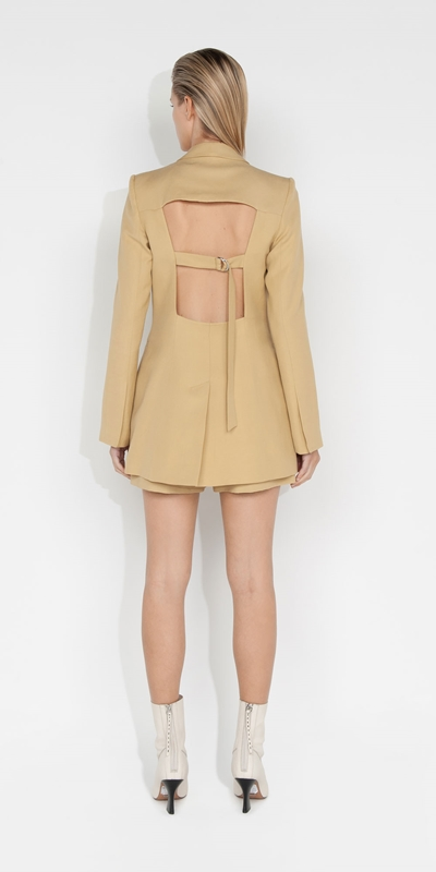 Jackets and Coats | Cut Out Back Blazer