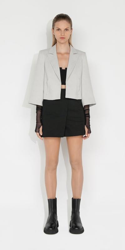 S21 Campaign | Melange Cropped Jacket