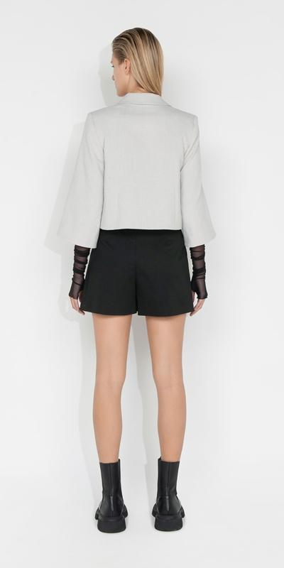 Jackets and Coats | Melange Cropped Jacket