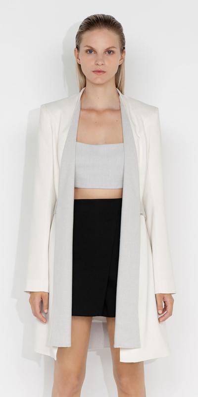 Made in Australia  | Melange Wrap Front Jacket