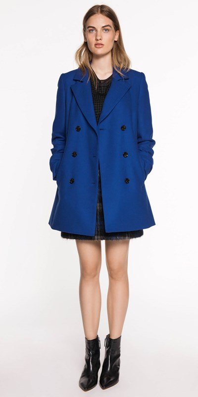 Wear to Work | Cobalt Double Breasted Coat