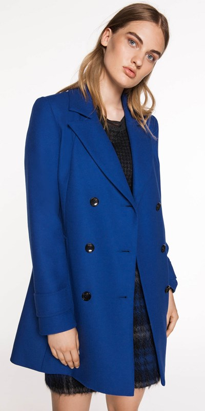 Jackets  | Cobalt Double Breasted Coat