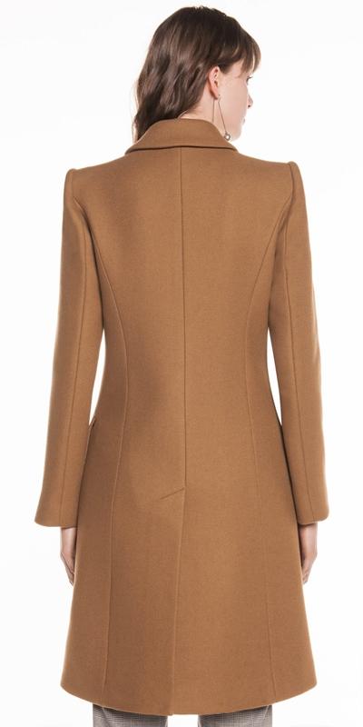 Coats | Camel Wool Twill Coat