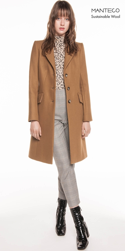 Coats | Camel Wool Twill Coat