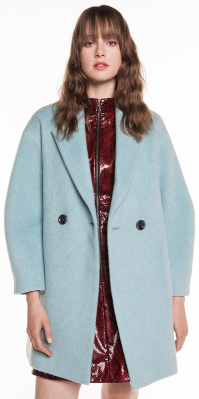 Made in Australia  | Duck Egg Brushed Mohair Coat