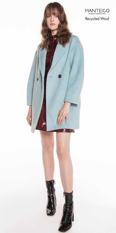 Coats | Duck Egg Brushed Mohair Coat