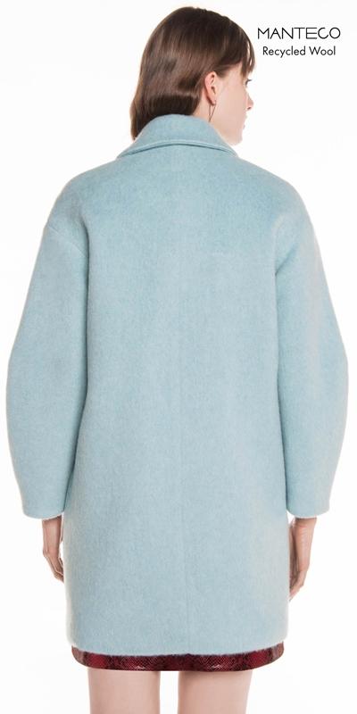 Coats | Duck Egg Brushed Mohair Coat