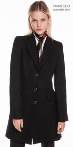 Coats | Black Twill Relaxed Coat