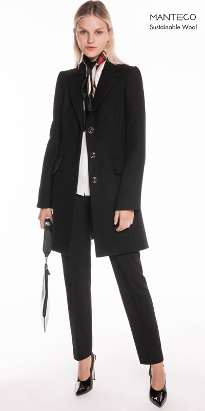 Coats  | Black Twill Relaxed Coat
