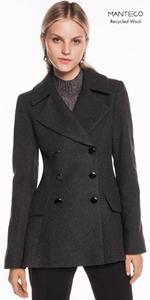 Coats | Charcoal Melange Double Breasted Jacket