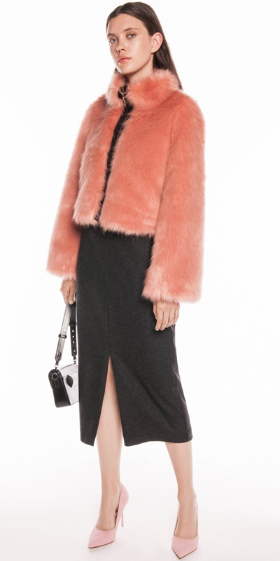 Coats | Blush Faux Fur Jacket