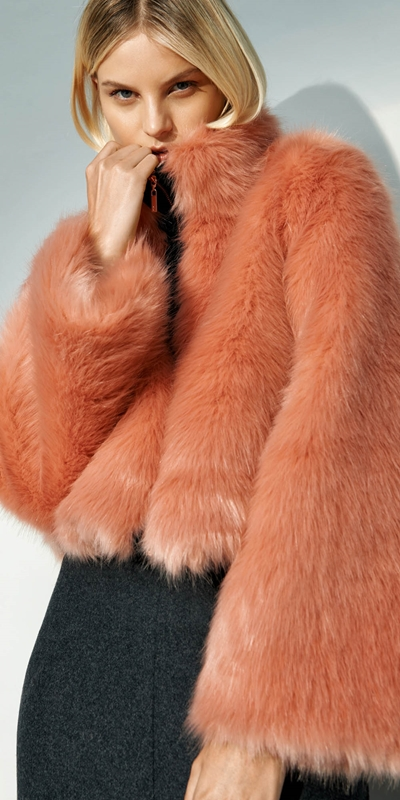 Made in Australia  | Blush Faux Fur Jacket