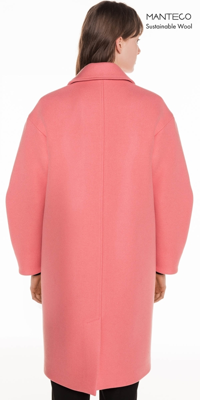 Coats | Pink Twill Coat