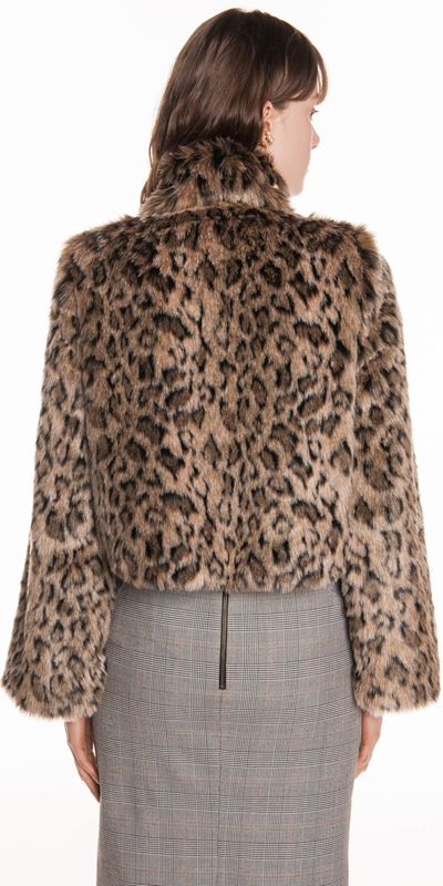 Coats | Leopard Faux Fur Jacket