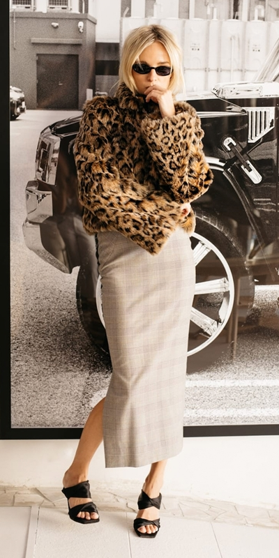 Jackets  | Leopard Faux Fur Jacket