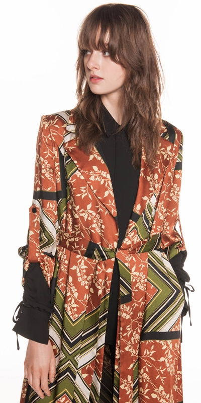 Made in Australia  | Scarf Print Trench