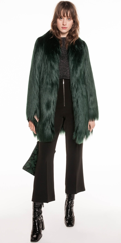 Jackets | Forest Faux Fur Coat