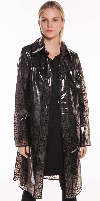 Jackets  | Leopard PVC Trench Coat