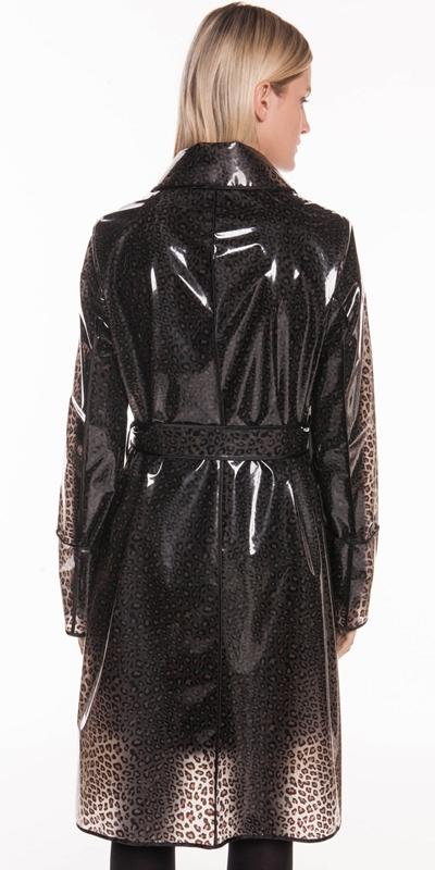 Coats | Leopard PVC Trench Coat