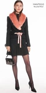 Coats | Faux Fur Shawl Collar Jacket