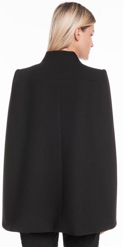 Coats | Soft Twill Funnel Neck Cape