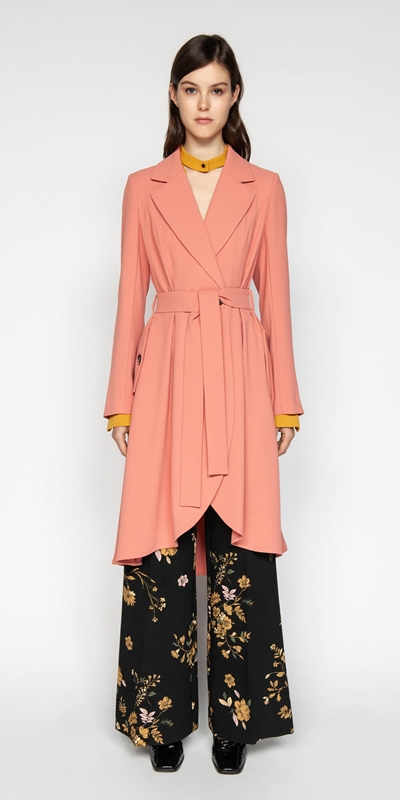 Sale | Crepe Belted Trench
