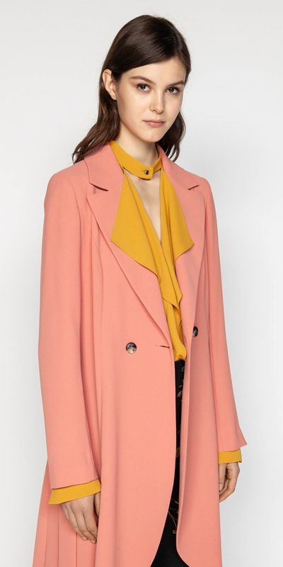 Coats  | Crepe Belted Trench