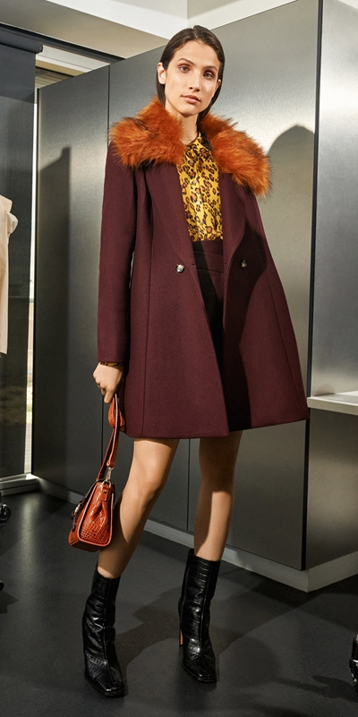 Sale  | Burgundy Double Breasted Coat