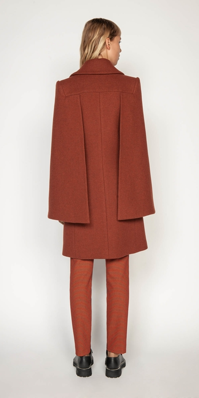 Jackets | Russet Double Breasted Cape