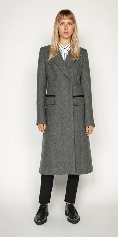 New Arrivals | Melange Tweed Coat