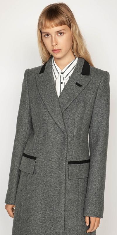Coats | Melange Tweed Coat