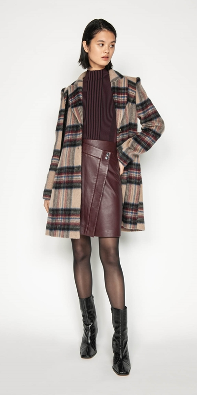 Coats | Plaid Wool Coat