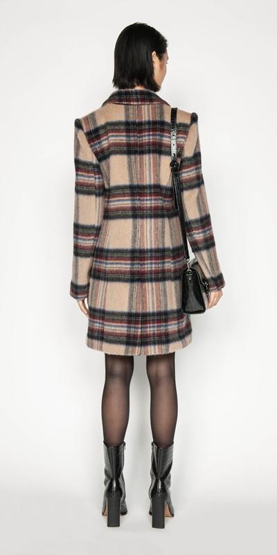 Coats | Plaid Wool Coat