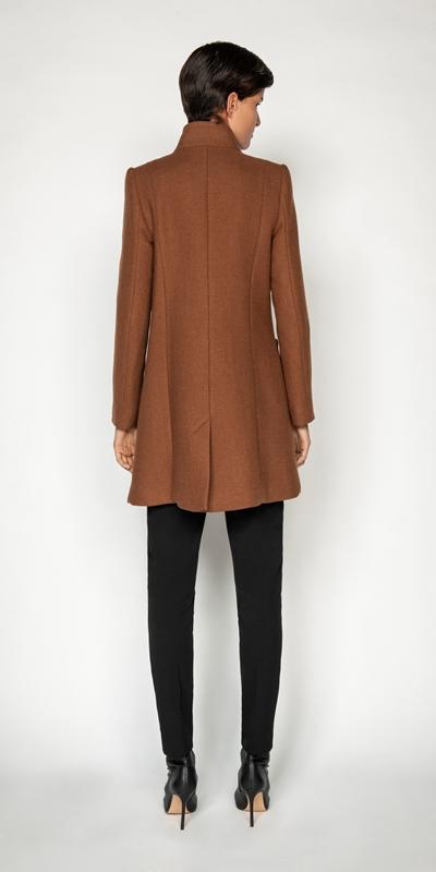 Jackets and Coats | Cinnamon Stand Collar Coat