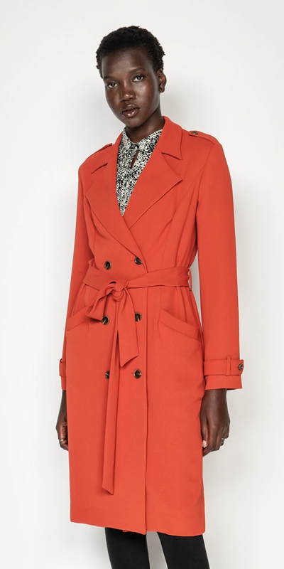 Coats  | Terracotta Crepe Trench