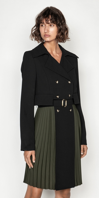 Coats | Crepe Pleated Trench