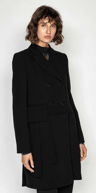 Made in Australia  | Asymmetric Double Breasted Coat