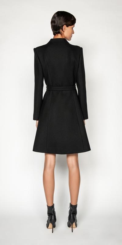 Coats | Wool Twill Belted Coat