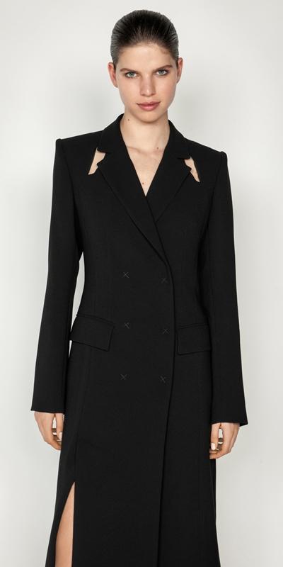 Jackets and Coats | Cut Out Maxi Coat